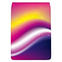 Rainbow Space Red Pink Purple Blue Yellow White Star Flap Covers (l)  by Mariart
