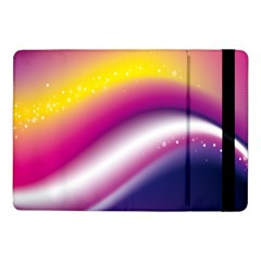 Rainbow Space Red Pink Purple Blue Yellow White Star Samsung Galaxy Tab Pro 10 1  Flip Case by Mariart