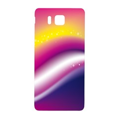Rainbow Space Red Pink Purple Blue Yellow White Star Samsung Galaxy Alpha Hardshell Back Case by Mariart