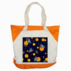 Rocket Ufo Moon Star Space Planet Blue Circle Accent Tote Bag by Mariart