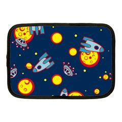 Rocket Ufo Moon Star Space Planet Blue Circle Netbook Case (medium)  by Mariart
