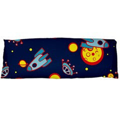 Rocket Ufo Moon Star Space Planet Blue Circle Body Pillow Case Dakimakura (two Sides) by Mariart