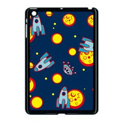 Rocket Ufo Moon Star Space Planet Blue Circle Apple Ipad Mini Case (black) by Mariart