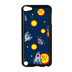 Rocket Ufo Moon Star Space Planet Blue Circle Apple Ipod Touch 5 Case (black) by Mariart