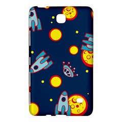 Rocket Ufo Moon Star Space Planet Blue Circle Samsung Galaxy Tab 4 (8 ) Hardshell Case  by Mariart