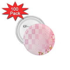 Sakura Flower Floral Pink Star Plaid Wave Chevron 1 75  Buttons (100 Pack)