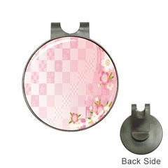 Sakura Flower Floral Pink Star Plaid Wave Chevron Hat Clips With Golf Markers