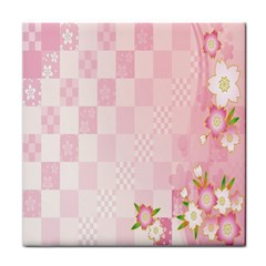 Sakura Flower Floral Pink Star Plaid Wave Chevron Face Towel by Mariart