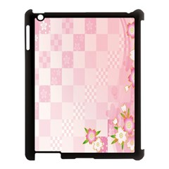 Sakura Flower Floral Pink Star Plaid Wave Chevron Apple Ipad 3/4 Case (black) by Mariart