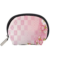 Sakura Flower Floral Pink Star Plaid Wave Chevron Accessory Pouches (small)  by Mariart