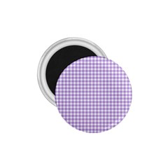 Plaid Purple White Line 1 75  Magnets by Mariart