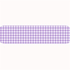 Plaid Purple White Line Large Bar Mats by Mariart