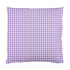 Plaid Purple White Line Standard Cushion Case (one Side) by Mariart