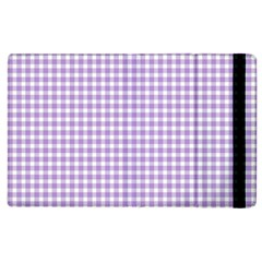 Plaid Purple White Line Apple Ipad 3/4 Flip Case by Mariart
