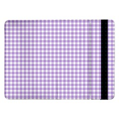 Plaid Purple White Line Samsung Galaxy Tab Pro 12 2  Flip Case by Mariart