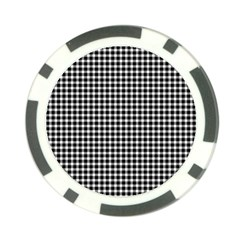 Plaid Black White Line Poker Chip Card Guard by Mariart