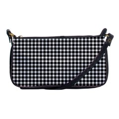 Plaid Black White Line Shoulder Clutch Bags by Mariart