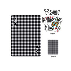 Plaid Black White Line Playing Cards 54 (mini)  by Mariart