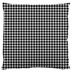 Plaid Black White Line Large Cushion Case (two Sides) by Mariart