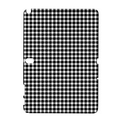 Plaid Black White Line Galaxy Note 1 by Mariart
