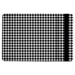 Plaid Black White Line Ipad Air Flip by Mariart