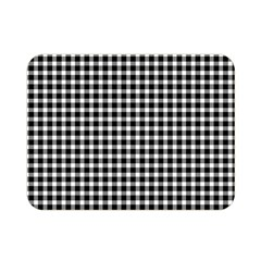 Plaid Black White Line Double Sided Flano Blanket (mini)  by Mariart