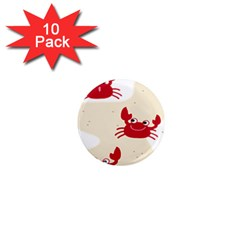 Sand Animals Red Crab 1  Mini Magnet (10 Pack)  by Mariart
