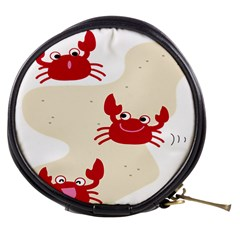 Sand Animals Red Crab Mini Makeup Bags by Mariart