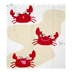 Sand Animals Red Crab Shower Curtain 66  X 72  (large)  by Mariart