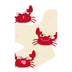 Sand Animals Red Crab Shower Curtain 48  X 72  (small)  by Mariart