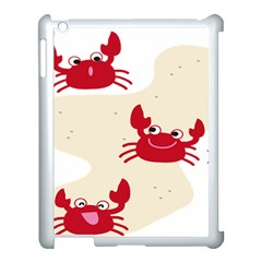 Sand Animals Red Crab Apple Ipad 3/4 Case (white) by Mariart