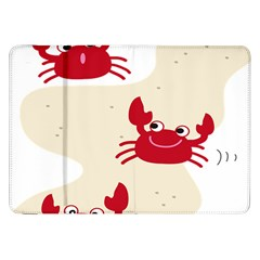 Sand Animals Red Crab Samsung Galaxy Tab 8 9  P7300 Flip Case by Mariart
