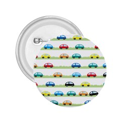 Small Car Red Yellow Blue Orange Black Kids 2 25  Buttons by Mariart