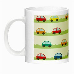 Small Car Red Yellow Blue Orange Black Kids Night Luminous Mugs by Mariart