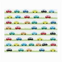 Small Car Red Yellow Blue Orange Black Kids Small Glasses Cloth by Mariart