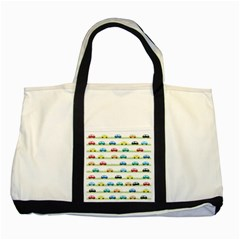 Small Car Red Yellow Blue Orange Black Kids Two Tone Tote Bag by Mariart