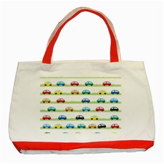 Small Car Red Yellow Blue Orange Black Kids Classic Tote Bag (red) by Mariart