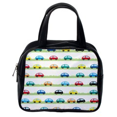 Small Car Red Yellow Blue Orange Black Kids Classic Handbags (one Side) by Mariart