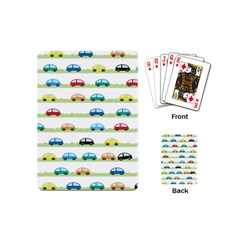 Small Car Red Yellow Blue Orange Black Kids Playing Cards (mini)  by Mariart