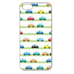Small Car Red Yellow Blue Orange Black Kids Apple Seamless Iphone 5 Case (clear) by Mariart