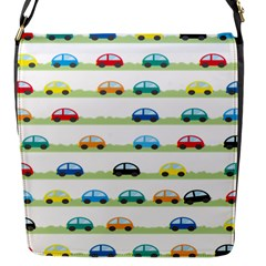 Small Car Red Yellow Blue Orange Black Kids Flap Messenger Bag (s) by Mariart