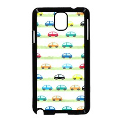 Small Car Red Yellow Blue Orange Black Kids Samsung Galaxy Note 3 Neo Hardshell Case (black) by Mariart