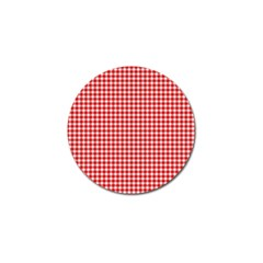 Plaid Red White Line Golf Ball Marker (4 Pack) by Mariart