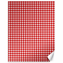 Plaid Red White Line Canvas 18  X 24   by Mariart
