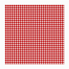Plaid Red White Line Medium Glasses Cloth