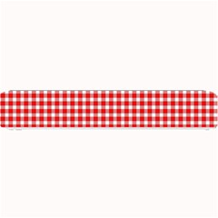 Plaid Red White Line Small Bar Mats by Mariart