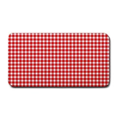 Plaid Red White Line Medium Bar Mats by Mariart