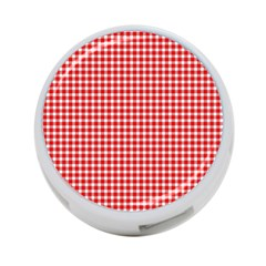 Plaid Red White Line 4 Port Usb Hub (one Side) by Mariart