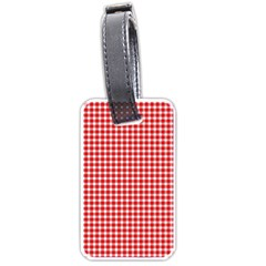 Plaid Red White Line Luggage Tags (two Sides) by Mariart
