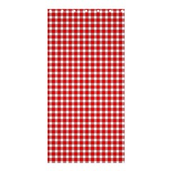 Plaid Red White Line Shower Curtain 36  X 72  (stall)  by Mariart